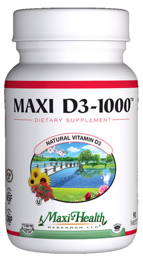 Maxi Health - Maxi Vitamin D3 1000 IU - 90 Tablets MH-3196-01