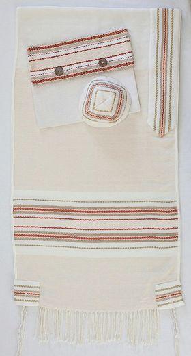 Bar Mitzvah, Jewish Gift, Woven Tallit, Jewish Prayer Shawl, Cotton Tallit, Bar Mitzvah Tallit Set, Tallit For Boy, White Prayer Shawl 612151014
