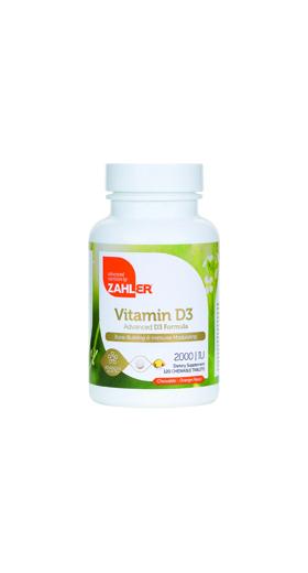 Zahler's - Vitamin D3 1000 IU - Orange Flavor - 120 Chewables ZN-5064-01